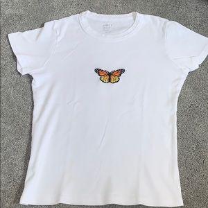 never worn brandy Melville butterfly tee